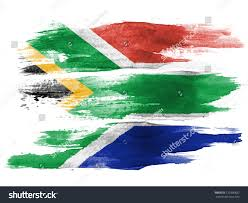 Aftican Flag South African Flag Painted On White Stock Photo 120390832