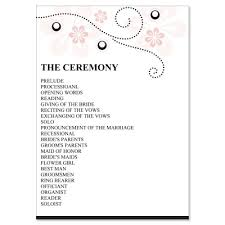 wedding reception program sle wedding program clipart 69