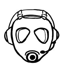 gasmask gamer logo sketch by jessicakdesign on deviantart