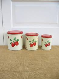 apple kitchen canisters vintage canister set metal canister set apple canisters