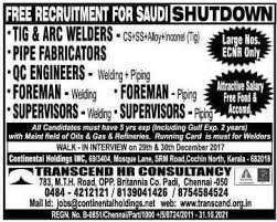 electrical engineering jobs in dubai for freshers shutdown jobs for welders freshers pipefitters safety officers