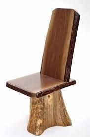 Black Walnut Dining Chairs Rustic Black Walnut Dining Chair With Stump Base Woodland Creek