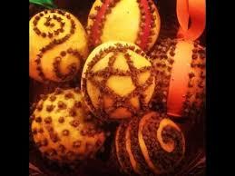 diy orange clove pomander balls