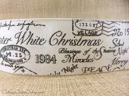 ribbon with words christmas script ribbon