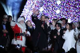 president obama sings jingle bells at tree lighting concert