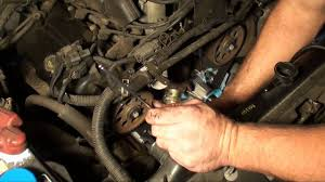 part 2 nissan 3 0 v6 timing belt water pump and thermostat youtube