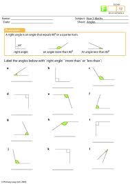 primaryleap co uk angles worksheet