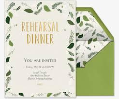 rehearsal and dinner invitations rehearsal dinner free online invitations