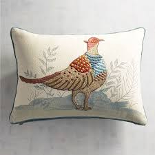 Pier One Peacock Pillow by Pheasant Lumbar Pillow Pier 1 Imports