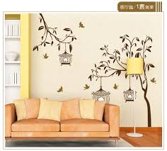 compare prices on painting birds in tree online shopping buy low black birds tree wall stickers for tv sofa background living room home decor painting poster tree