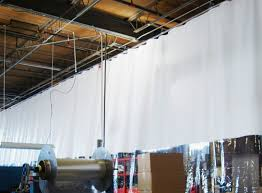 Hanging Curtains From Ceiling by Hanging Curtain Track Suspended Ceiling Curtain Menzilperde Net