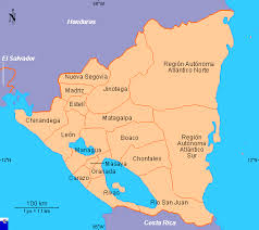 clickable map of nicaragua districts