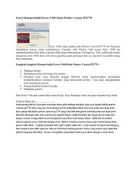 cara reset printer canon ip 2770 eror 5100 cara memperbaiki error 5100 pada printer canon ip2770 documents
