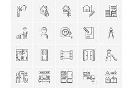 2180 vector sketch icons mega pack icons creative market