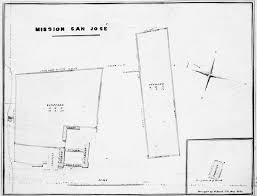 mission san jose floor plan layout of san jose mission california missions resource center
