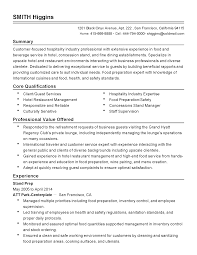 Food Prep Resume Example by Career Objective For Hotel Industry Corpedo Com Hospitality