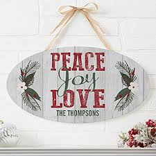 personalized wood sign peace
