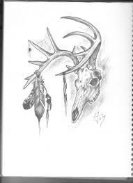 deer skull tribal drawing clipartxtras