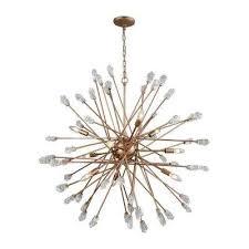 Gold Glass Chandelier Gold Starburst Chandeliers Hanging Lights The Home Depot