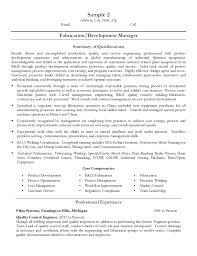 Resume For Welder Job by U0026 Development Manager Resume