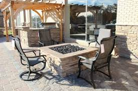 Flagstone Patio With Pergola Grand Island Fireplace Stone U0026 Patio