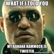 Banana Hammock Meme - what if i told you my banana hammock is twisted what if i told