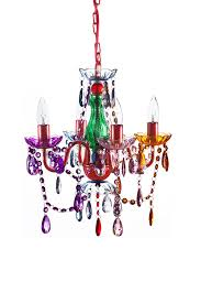 Colored Chandelier The Original Color 4 Light Small Chandelier For H 17 5