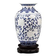 antique china pattern jingdezhen rice pattern porcelain vase antique blue and white bone