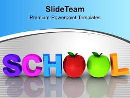 Free Powerpoint Templates Health Word School With Apples Education Educational Powerpoint Themes