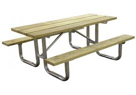 Picnic Table Frame 6 U0027 Wood Picnic Table Commercial Site Furnishings