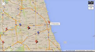 Chicago Google Map by Chicago Urbanist The Death Of Retail Jc Penny U0027s Geography Problem