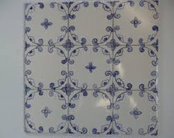 French Blue And White Ceramic Tile Backsplash Ceramic Tile Etsy