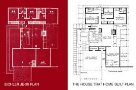 Eichler Floor Plan Kcmodern U0027the House That Home Built U0027
