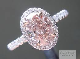 light pink engagement rings pink oval ring