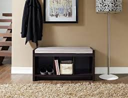 small entryway bench with shoe storage and cushion images home