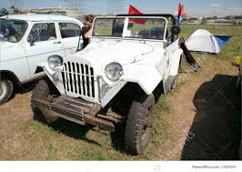 russian jeep ww2 auto transport vintage russian off road car stock photo