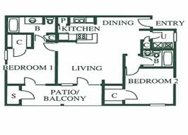 Two Bed Two Bath Floor Plans Plans Available Apartments For Rent In El Paso Tx Shadow Ridge