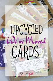 upcycled we ve moved cards using project cards