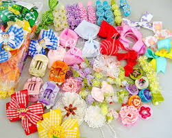 ribbon hair bow ribbon bow lace trim hair bow hair ornament string textile