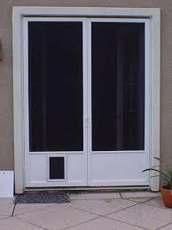 Cat Flap Patio Door Sliding Screen Door With Cat Flap Screen Doors