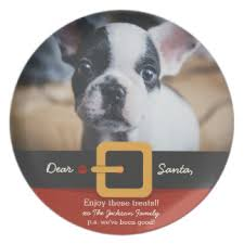 santa dog plates zazzle