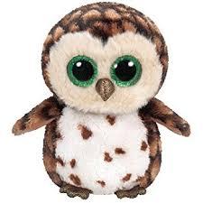 ty beanie boo plush sammy owl 15cm amazon uk toys u0026 games