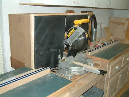 dewalt table saw dust collection miter saw dust collection hood ohhh an organized shop garage