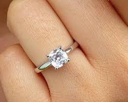 engagement rings cushion cut cushion cut engagement ring etsy