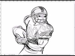 how to draw a nfl football player how to draw the body