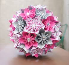 paper flower bouquet custom wedding kusudama origami paper flower package bouquets