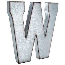 metal letters wall decor wall metal letter galvanized w large galvanized metal letter industrial chic pinterest