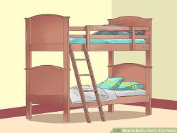 Build A Bunk Bed 4 Ways To Build A Fort In Your Room Wikihow