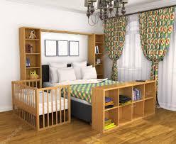 lit bébé chambre parents chambre pour les parents et l enfant lit de bébé berceuse situé