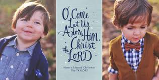 o come let us adore him christmas card cardstore